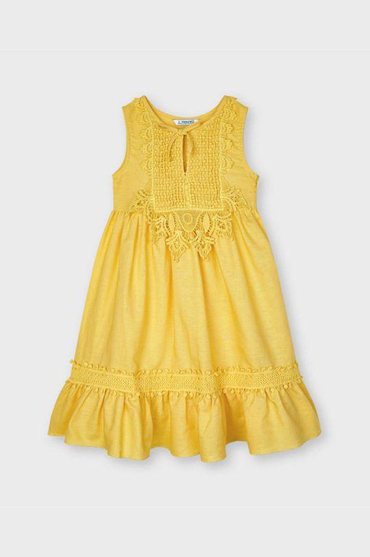 jasny pomarańczowy Mayoral - Sukienka dziecięca Dziewczęcy