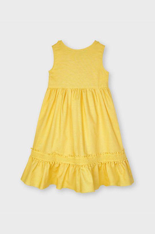 Mayoral - Sukienka dziecięca jasny pomarańczowy