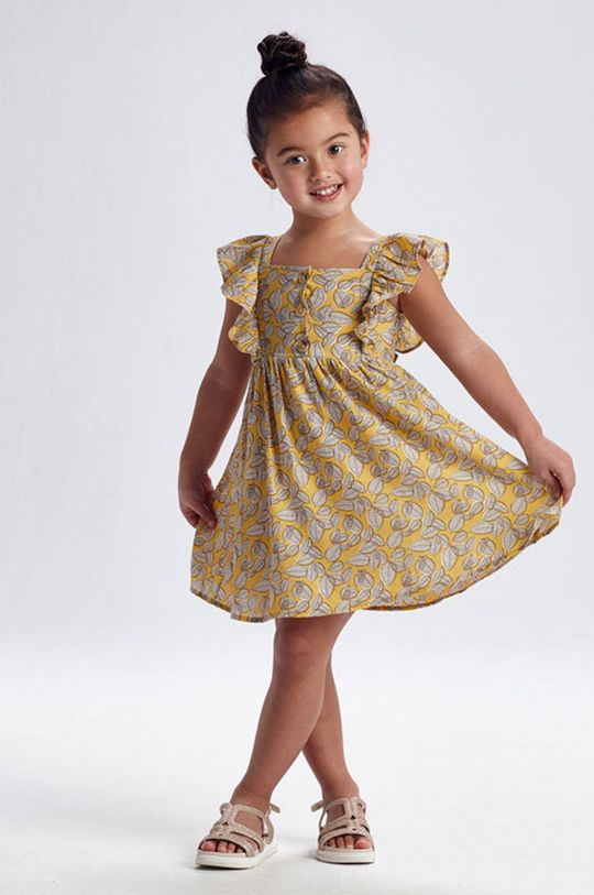 horčicová Mayoral - Dievčenské šaty Dievčenský