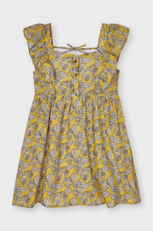 Mayoral - Dievčenské šaty horčicová