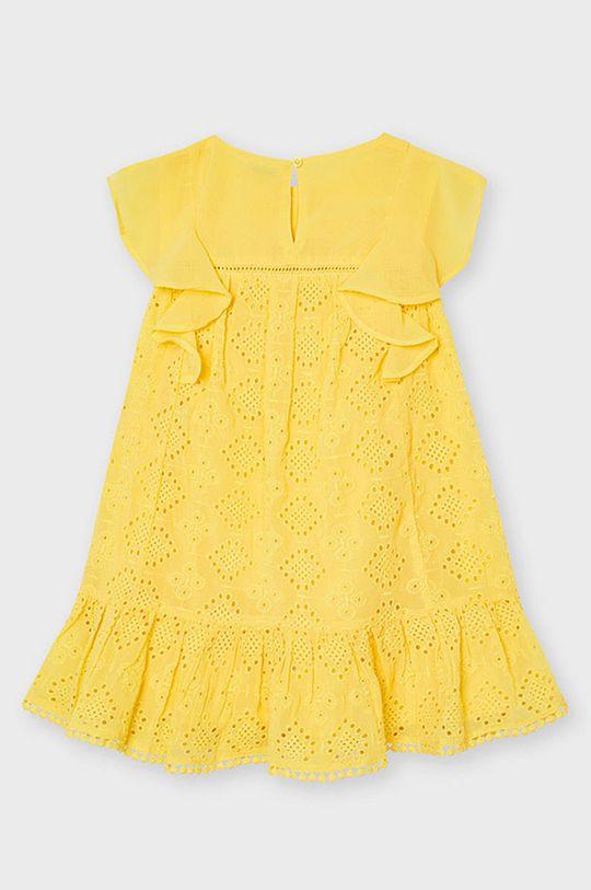 Mayoral - Dievčenské šaty jantárová