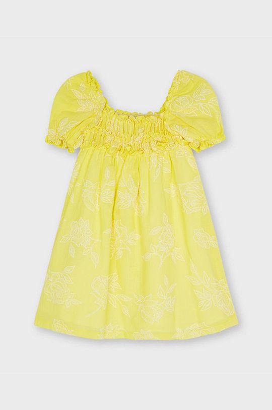 jasny żółty Mayoral - Sukienka dziecięca Dziewczęcy
