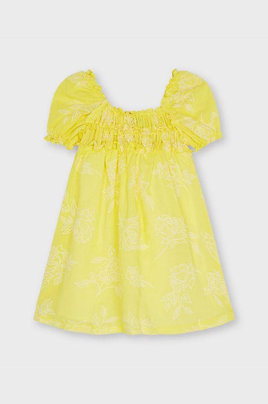 Mayoral - Sukienka dziecięca jasny żółty