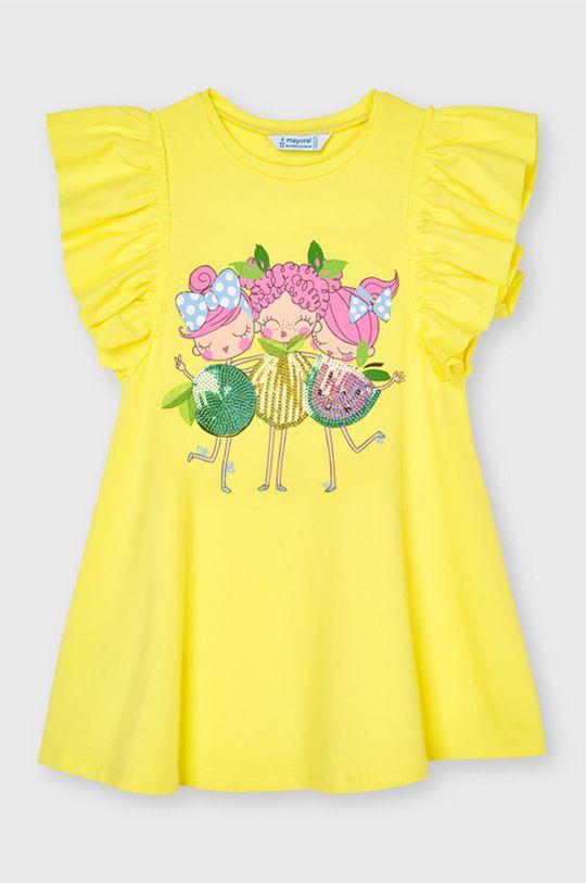 žltá Mayoral - Dievčenské šaty Dievčenský