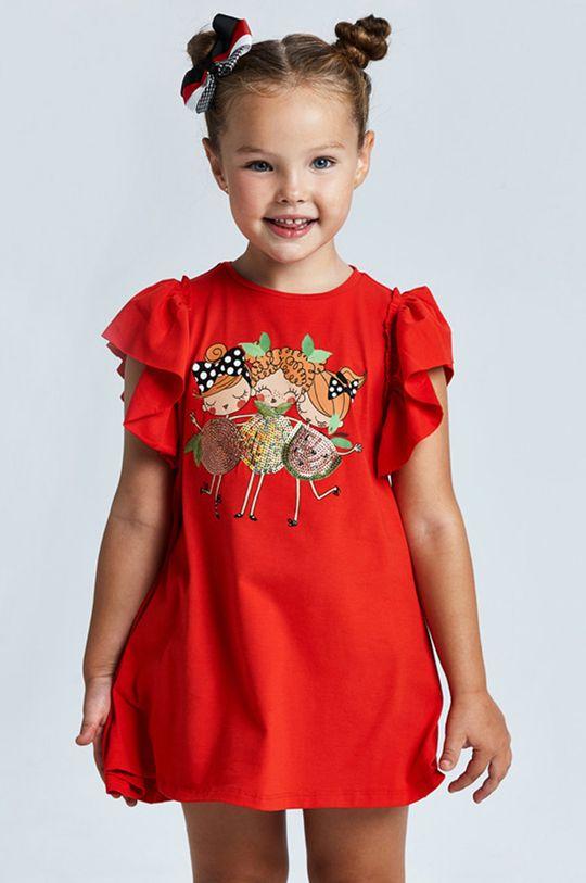 červená Mayoral - Dievčenské šaty Dievčenský