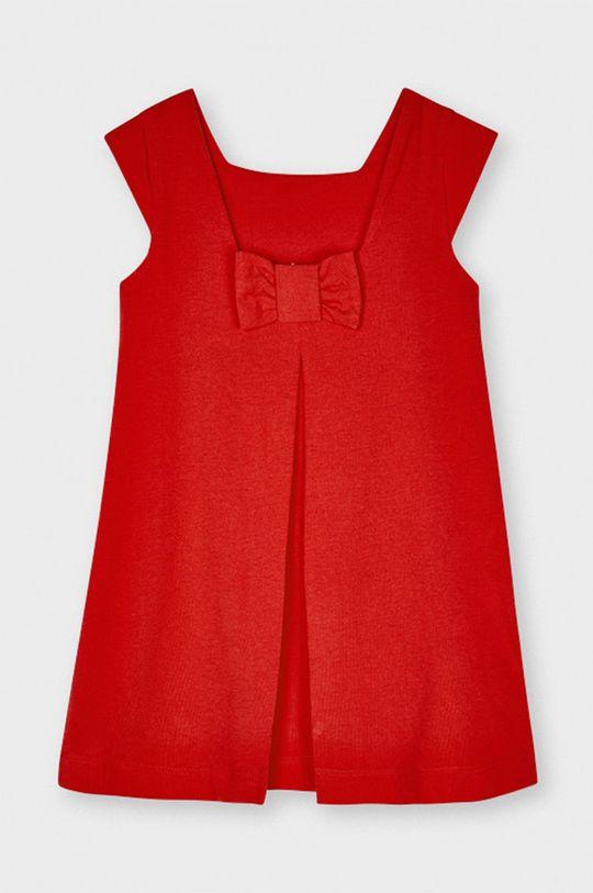 Mayoral - Dievčenské šaty sýtočervená