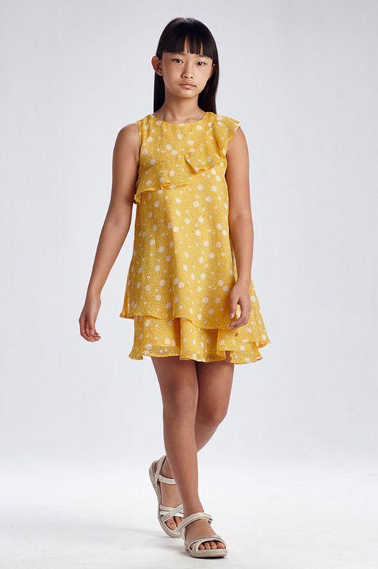 svetlo oranžová Mayoral - Dievčenské šaty Dievčenský