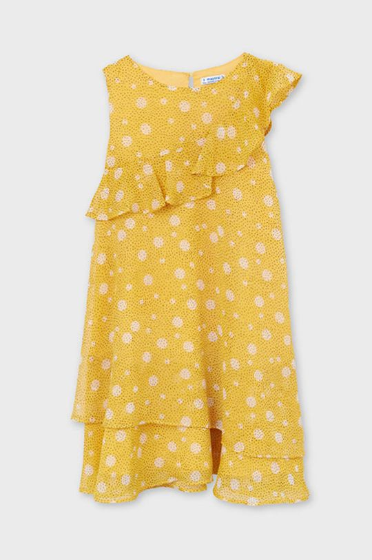 Mayoral - Dievčenské šaty svetlo oranžová
