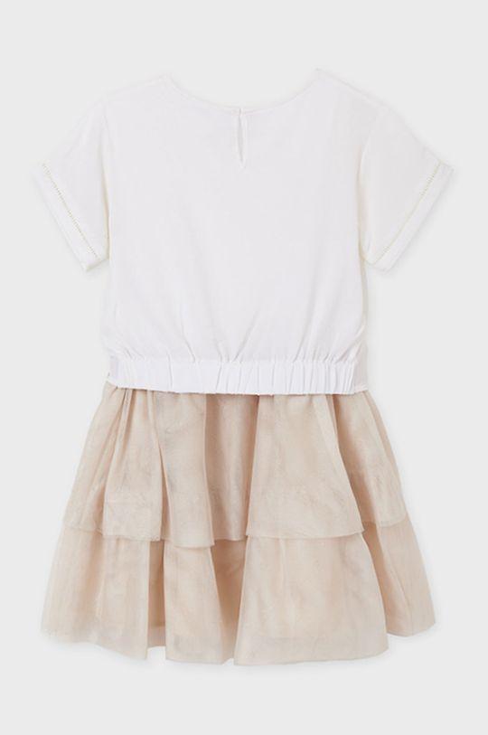 Mayoral - Dívčí šaty  Materiál č. 1: 2% Bavlna, 5% Elastan, 93% Polyester Materiál č. 2: 32% Bavlna, 68% Polyester