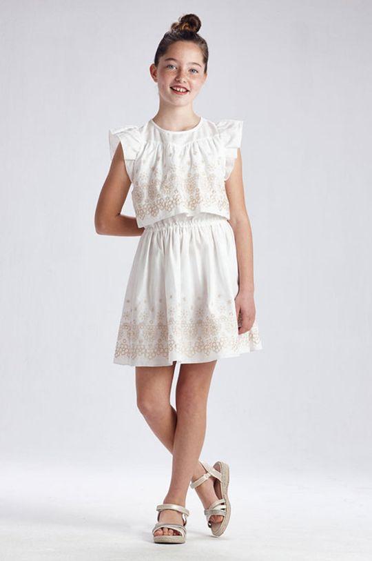 krémová Mayoral - Dievčenské šaty Dievčenský