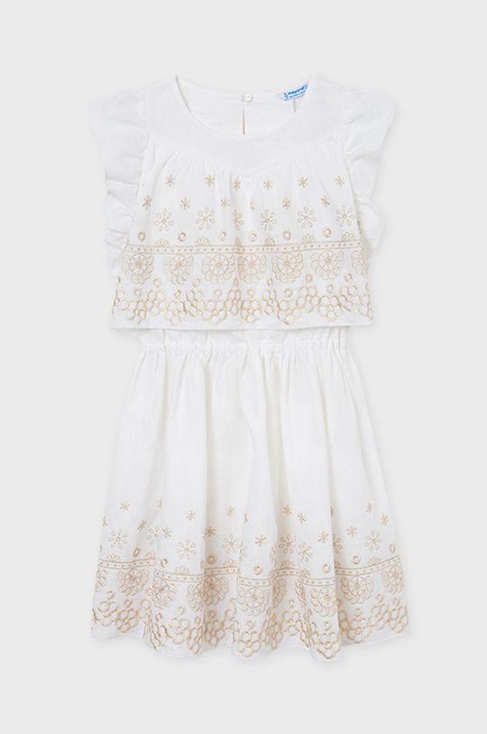 Mayoral - Dievčenské šaty krémová
