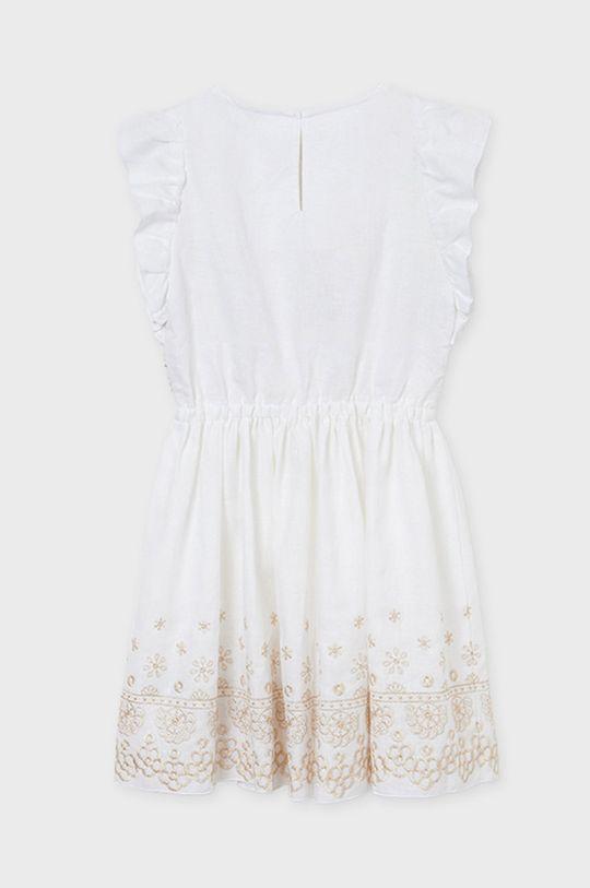 Mayoral - Dievčenské šaty  Podšívka: 20% Bavlna, 80% Polyester Základná látka: 56% Bavlna, 34% Ľan, 10% Polyester