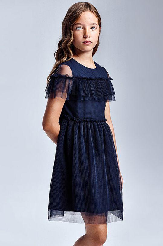 tmavomodrá Mayoral - Dievčenské šaty Dievčenský