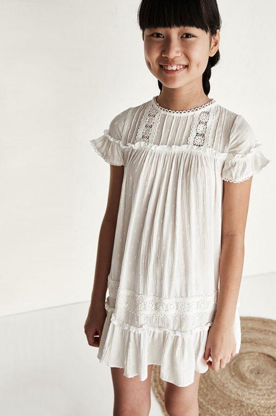kremowy Mayoral - Sukienka dziecięca Dziewczęcy
