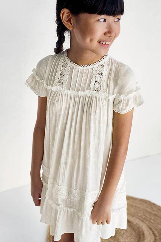 Mayoral - Sukienka dziecięca kremowy