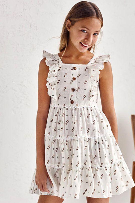 piaskowy Mayoral - Sukienka dziecięca Dziewczęcy