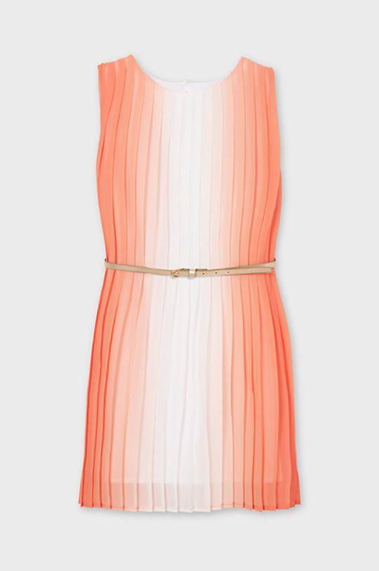 Mayoral - Sukienka dziecięca brzoskwiniowy
