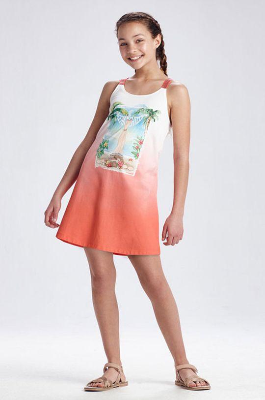 broskyňová Mayoral - Dievčenské šaty Dievčenský