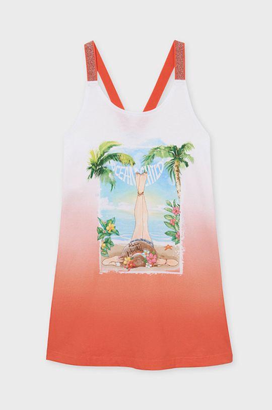 Mayoral - Dievčenské šaty broskyňová