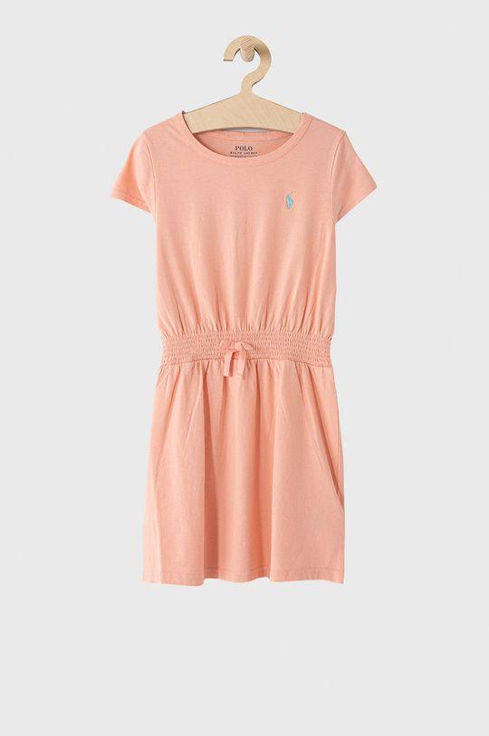 koralowy Polo Ralph Lauren - Sukienka dziecięca 128-176 cm Dziewczęcy