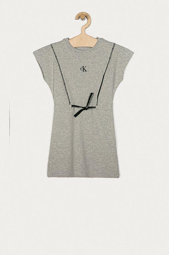 světle šedá Calvin Klein Jeans - Dívčí šaty 104-176 cm Dívčí