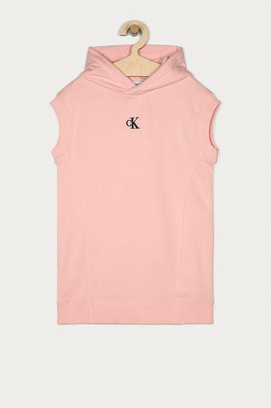 różowy Calvin Klein Jeans - Sukienka dziecięca 104-176 cm Dziewczęcy