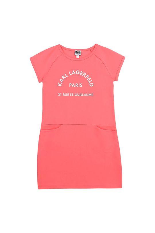 różowy Karl Lagerfeld - Sukienka dziecięca Dziewczęcy