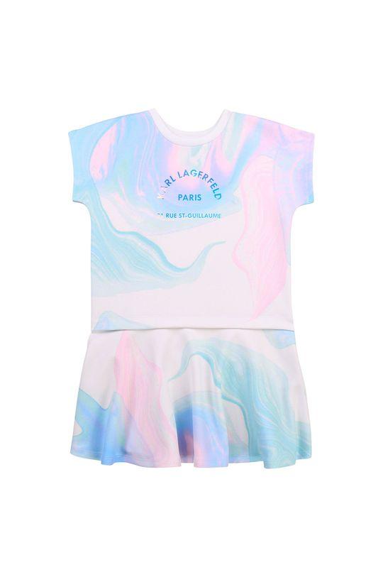 biały Karl Lagerfeld - Sukienka dziecięca Dziewczęcy