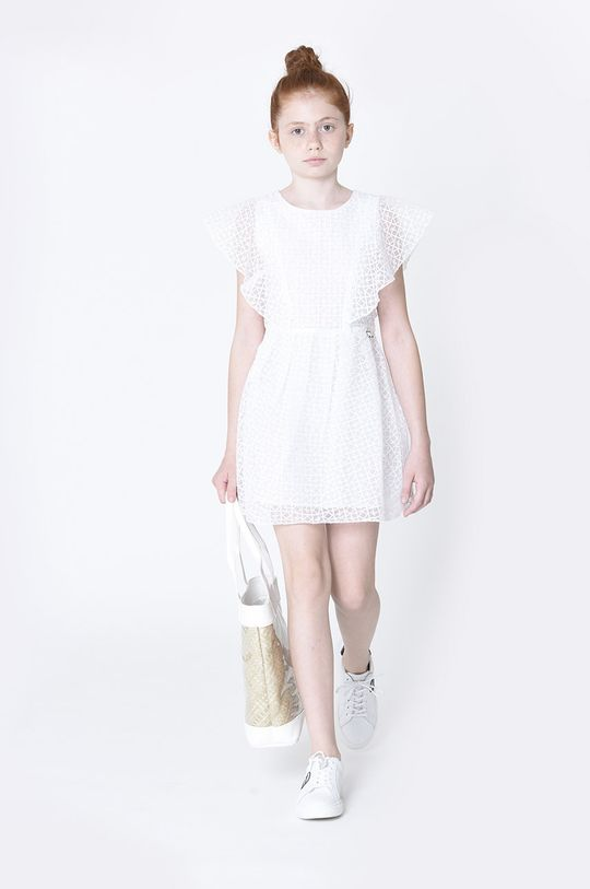 bílá Karl Lagerfeld - Dívčí šaty Dívčí
