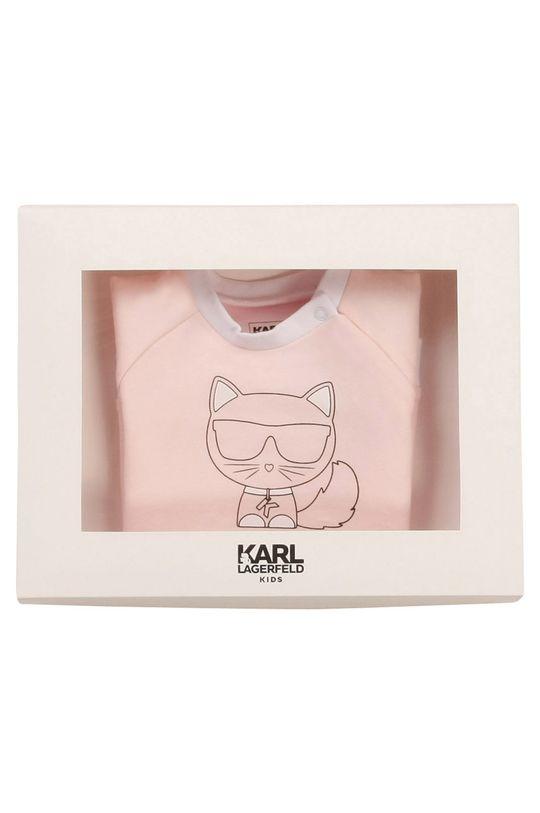 Karl Lagerfeld - Sukienka dziecięca pastelowy różowy
