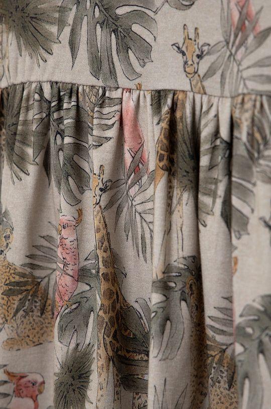 Name it - Dívčí šaty  57% Organická bavlna, 5% Elastan, 38% Modal