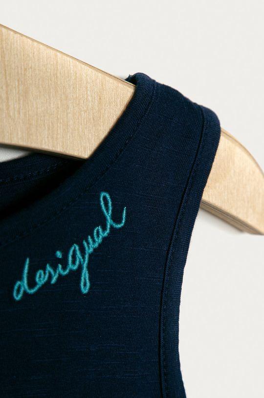 Desigual - Sukienka dziecięca 104-164 cm 100 % Bawełna, Wskazówki pielęgnacyjne:  prać w pralce w temperaturze 30 stopni, nie suszyć w suszarce bębnowej, nie wybielać, prasować w średniej temperaturze, Nie czyścić chemicznie