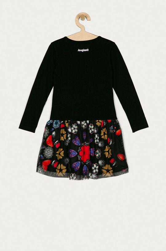Desigual - Dívčí šaty 104-164 cm  Materiál č. 1: 100% Bavlna Materiál č. 2: 57% Bavlna, 43% Polyester Pokyny k praní a údržbě:  neprat chemicky, prát v pračce při teplotě 30 stupňů, nelze sušit v sušičce, nebělit, žehlit na nízkou teplotu