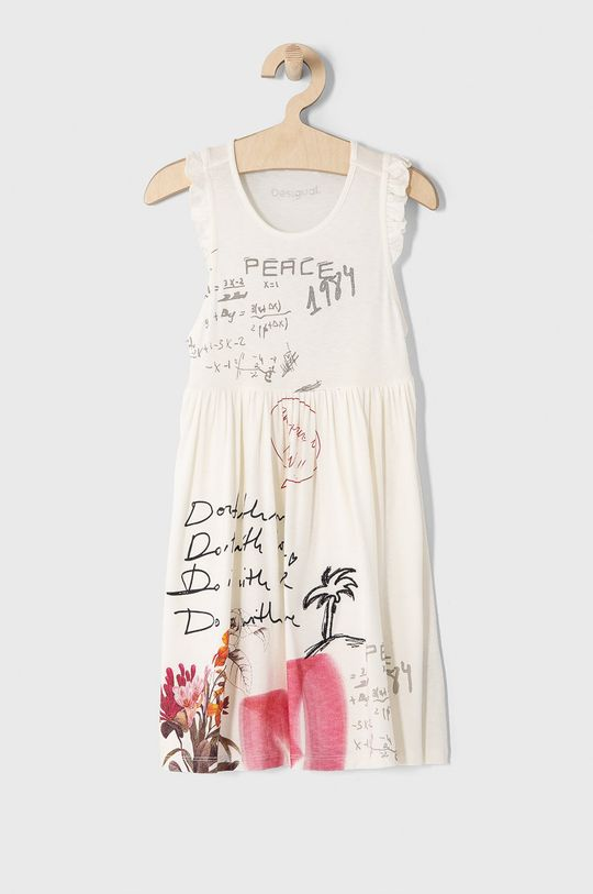 biela Desigual - Dievčenské šaty 104-164 cm Dievčenský