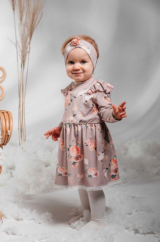 pastelowy różowy Jamiks - Sukienka dziecięca AMITA Dziewczęcy