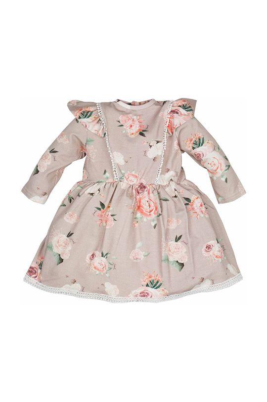 Jamiks - Sukienka dziecięca AMITA pastelowy różowy