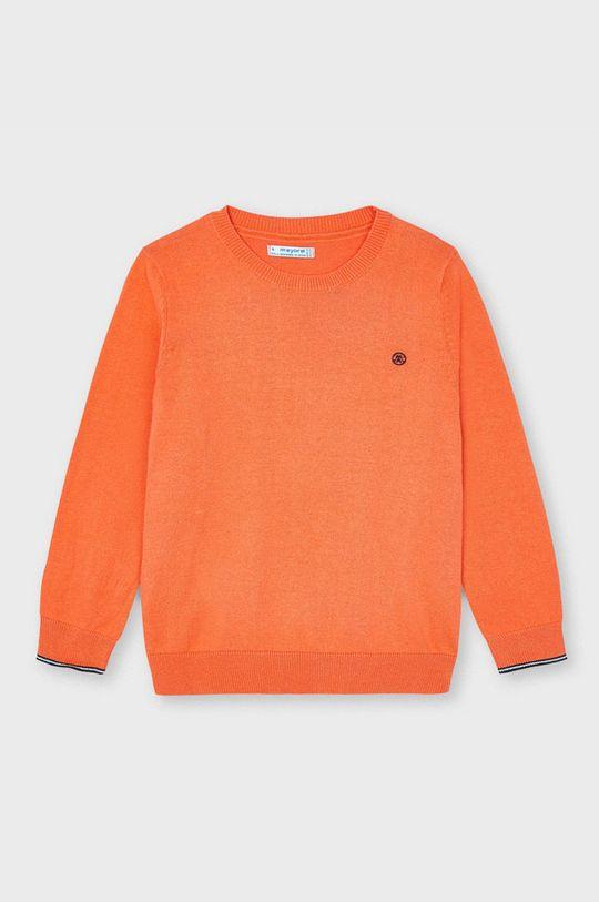 mandarynkowy Mayoral - Sweter dziecięcy Chłopięcy