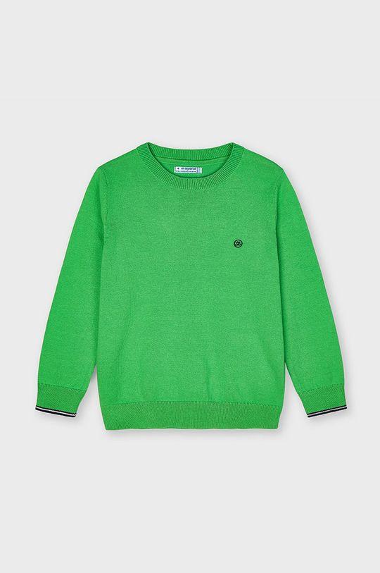 Mayoral - Sweter dziecięcy ostry zielony