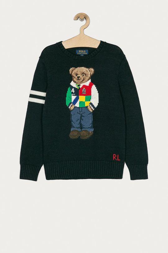 granatowy Polo Ralph Lauren - Sweter dziecięcy 140-176 cm Chłopięcy
