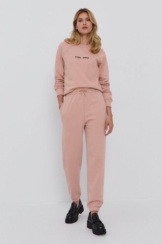 Samsoe Samsoe - Μπλούζα βρώμικο ροζ