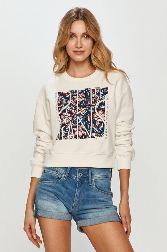 biały Pepe Jeans - Bluza bawełniana Bambie Damski