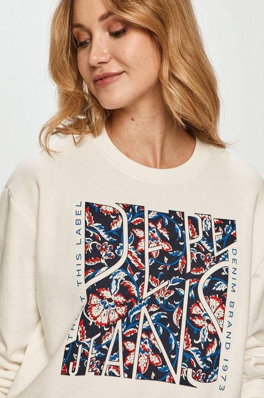 biały Pepe Jeans - Bluza bawełniana Bambie