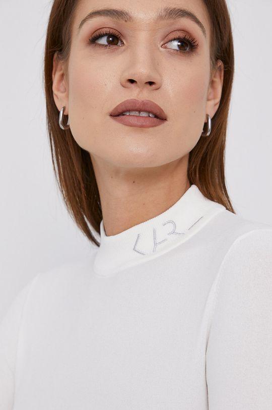 biały Karl Lagerfeld - Sweter Damski