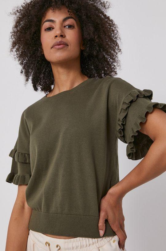 зелено-коричневий Dkny - Светр Жіночий