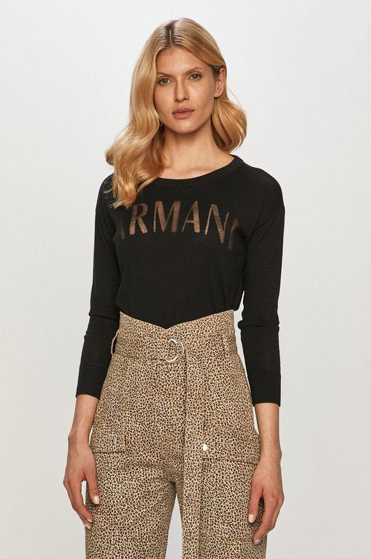 czarny Armani Exchange - Sweter Damski