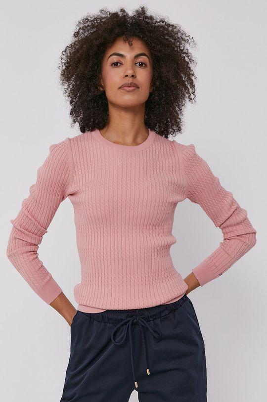 różowy Tommy Hilfiger - Sweter
