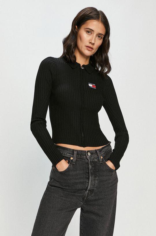 černá Tommy Jeans - Kardigan Dámský