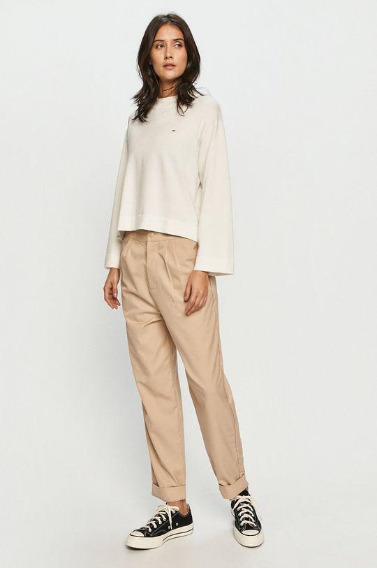 Tommy Jeans - Sweter biały