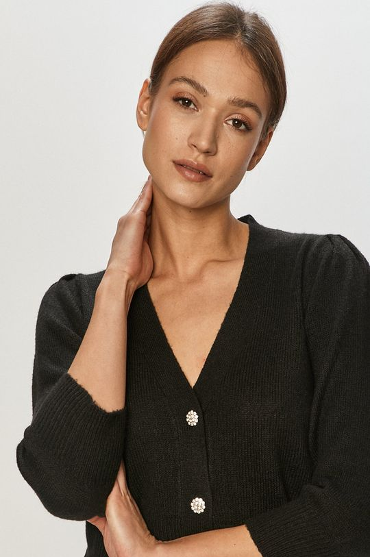 czarny Jacqueline de Yong - Kardigan Damski