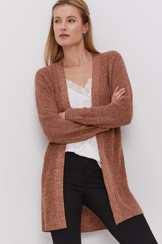 Jacqueline de Yong - Kardigan brązowy